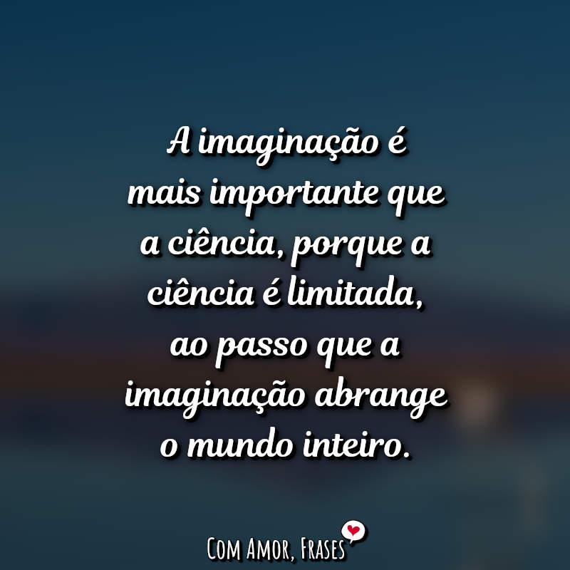 Frase do Dia: A imaginação é mais importante.