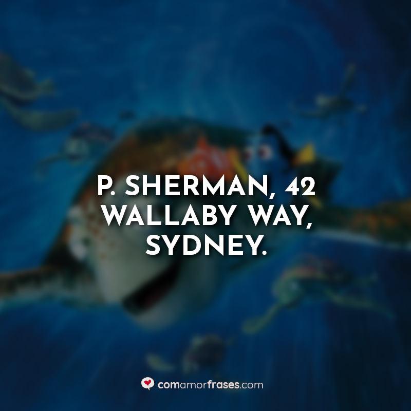Frases do Filme Procurando Nemo.